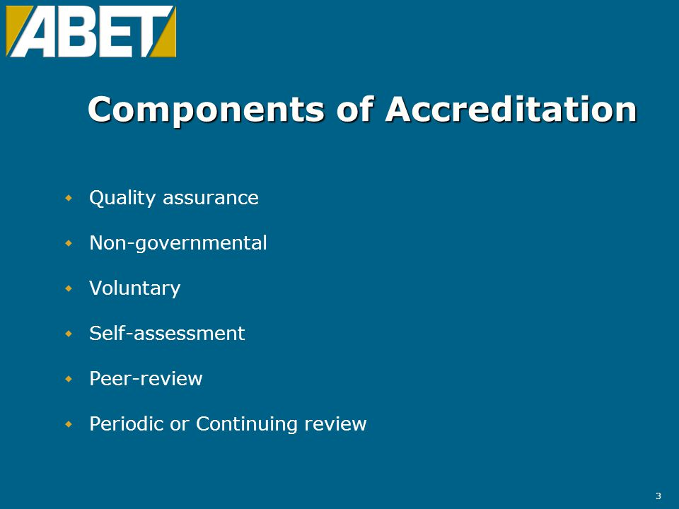 14 Computing Accreditation Commission (CAC)  25 members  215 accredited engineering-related programmes at 193 institutions  79 programmes at 70 institutions visited  Accredits programmes at the baccalaureate level
