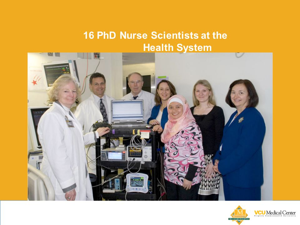 16 PhD Nurse Scientists at the Health System