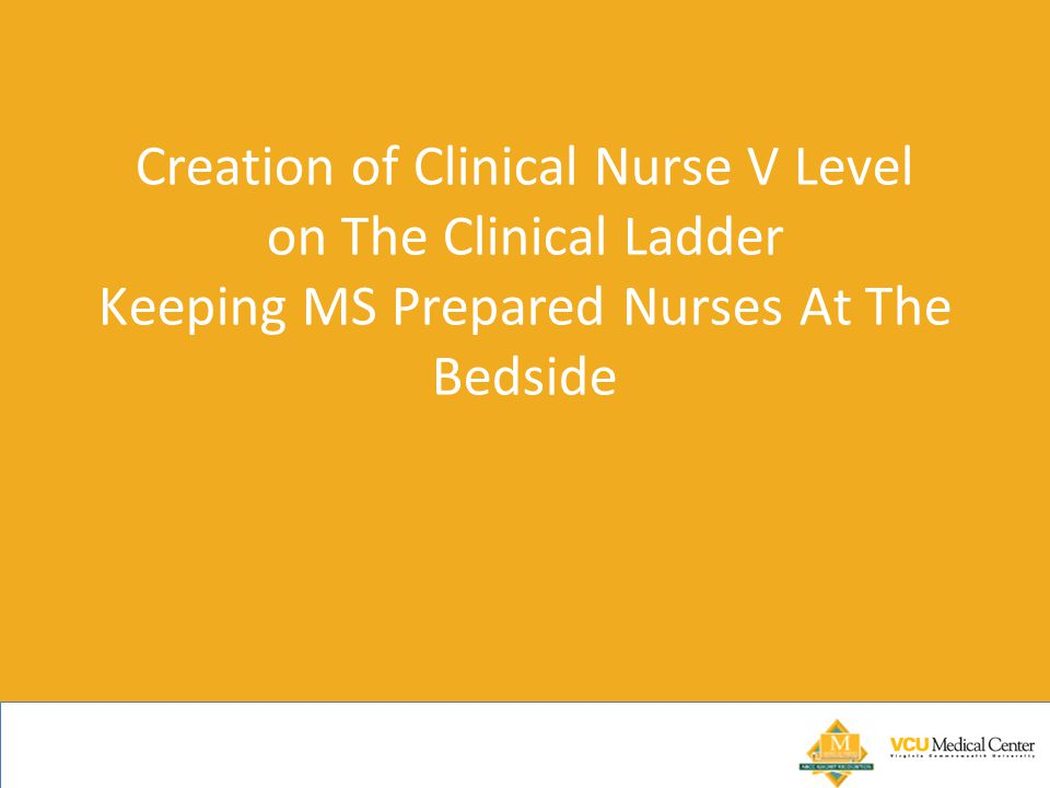 Creation of Clinical Nurse V Level on The Clinical Ladder Keeping MS Prepared Nurses At The Bedside