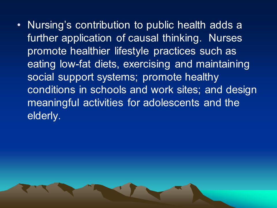 Changes in Education Changes in education, especially those in nursing education, have had and important influence on community health nursing practice.