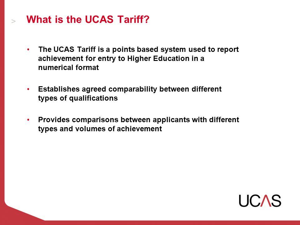 What is the UCAS Tariff.