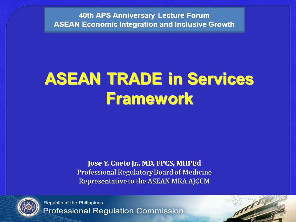 ASEAN TRADE in Services Framework Jose Y.