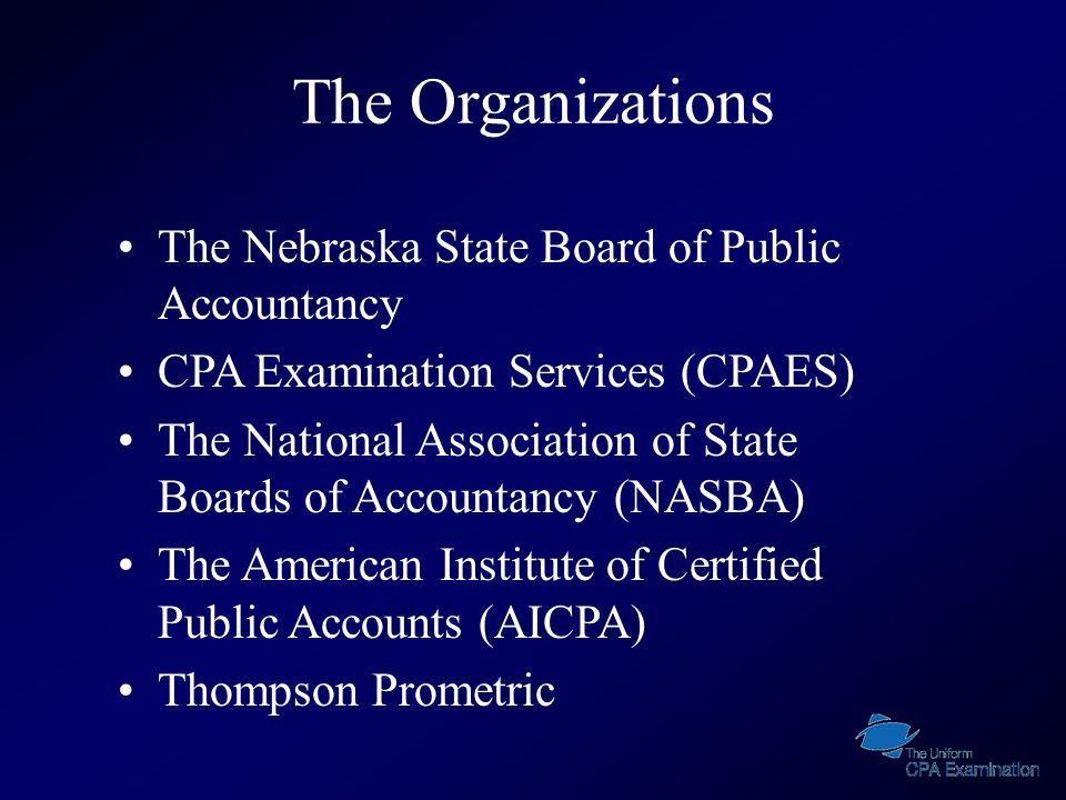The Nebraska Board of Public Accountancy The Nebraska Board of Public Accountancy is an administrative an administrative branch of the Nebraska government.