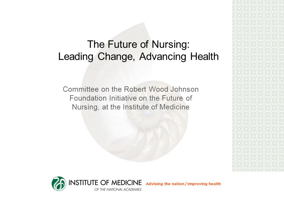 Recommendation # 5 Double the number of nurses with a doctorate by 2020 Schools of nursing, with support from private and public funders, academic administrators and university trustees, and accrediting bodies, should double the number of nurses with a doctorate by 2020 to add to the cadre of faculty and nurse researchers, with attention to increasing diversity.