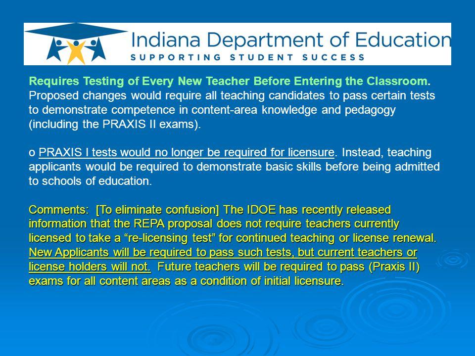 Changes Novice-Teacher Programs.
