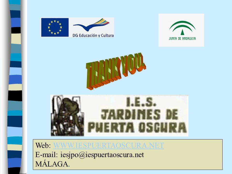 Web: WWW.IESPUERTAOSCURA.NETWWW.IESPUERTAOSCURA.NET E-mail: iesjpo@iespuertaoscura.net MÁLAGA.