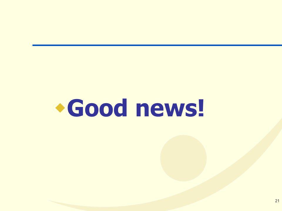 21  Good news!