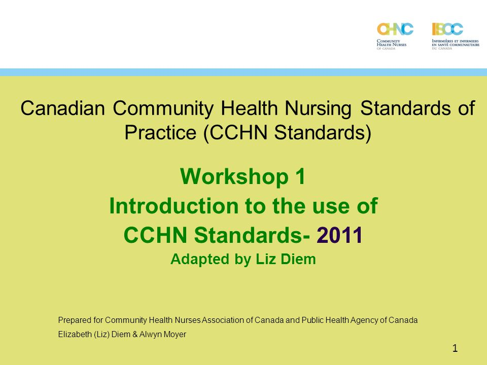 Standard 2- Prevention & Health Protection Overview The CHN applies a repertoire of activities to minimize the occurrence of diseases or injuries and their consequences.