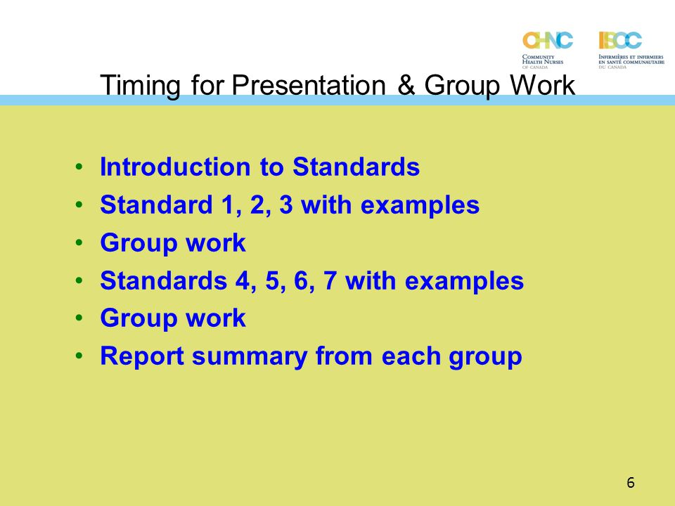 Development of the CCHN Standards Developed by a geographically representative committee of CHNs under the auspices of CHNAC now called CHNC (Community Health Nurses of Canada) Input received from over 1000 CHNs across Canada Process took over 3 years – formally released October 2003 Revision in 2008 Revision in 2011 7