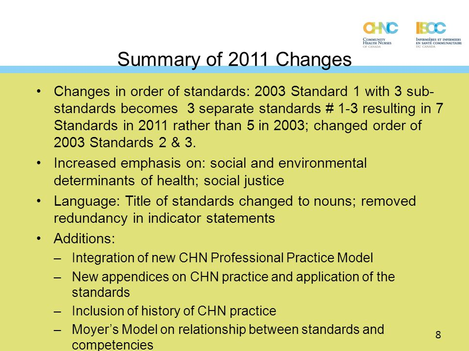Why are CCHN Standards important.