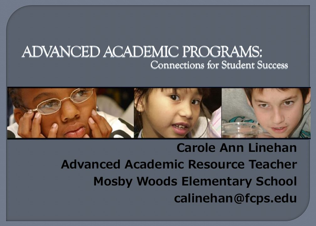 Advanced Academics in middle and high school
