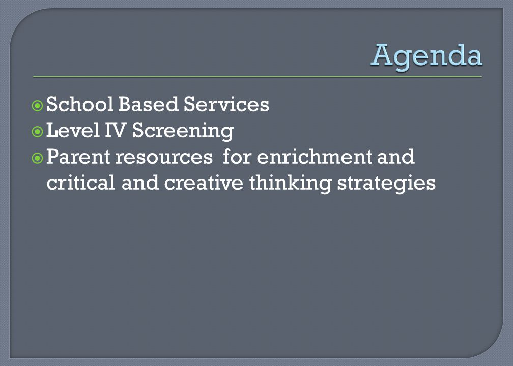 School Based Services