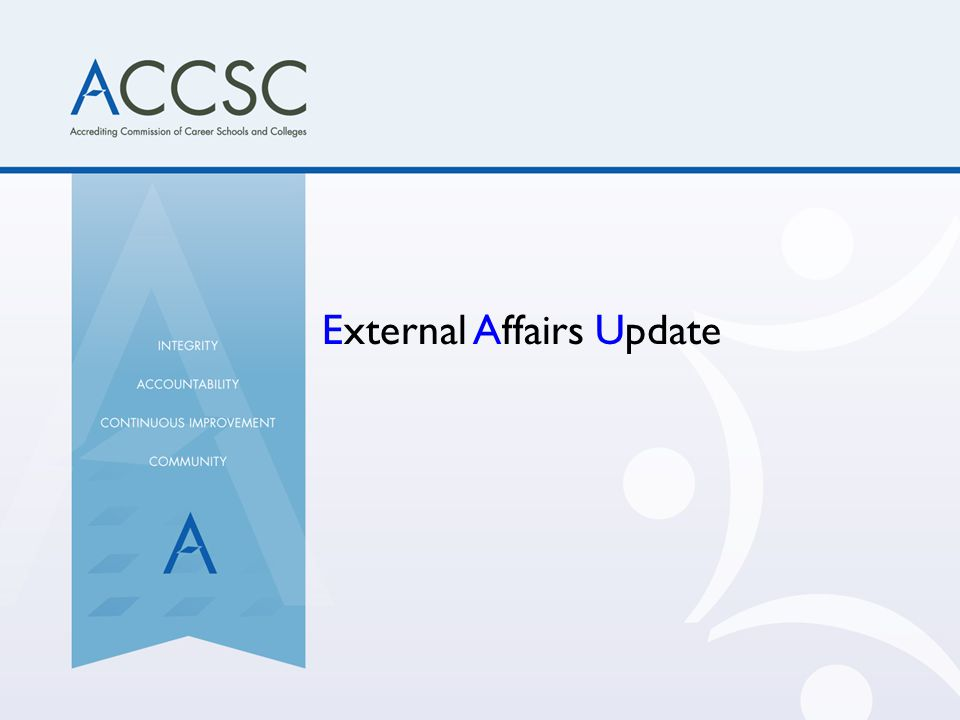 External Affairs Update