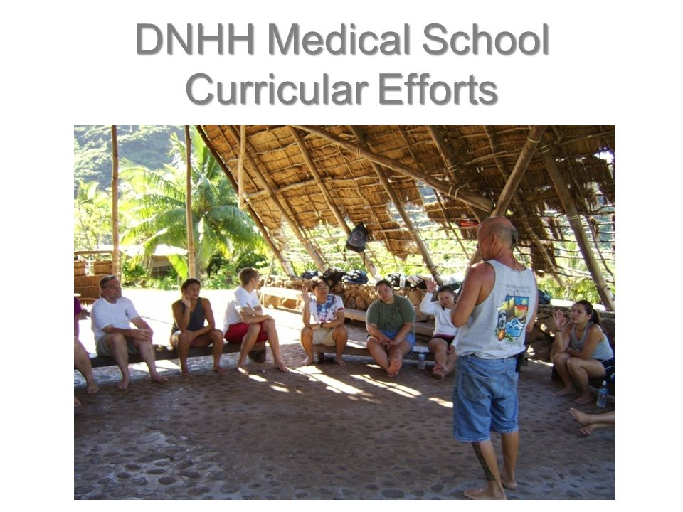 DNHH Medical School Curricular Efforts