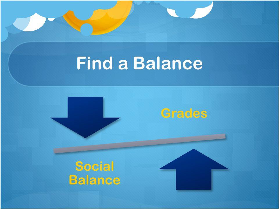 Find a Balance Grades Social Balance