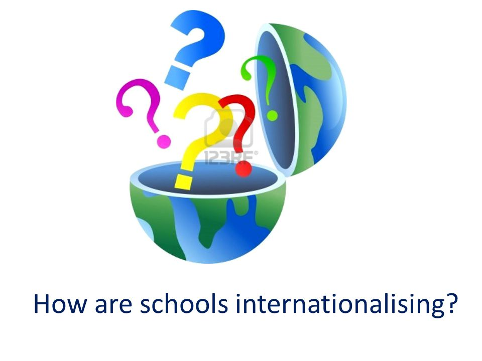 How are schools internationalising?