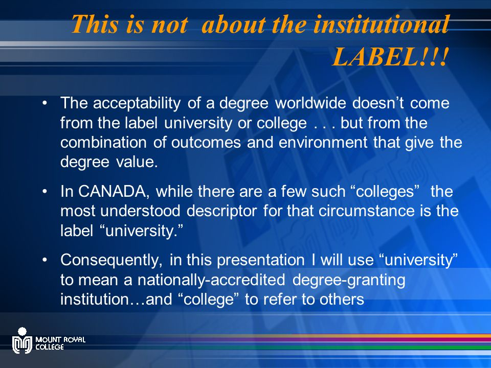 This is not about the institutional LABEL!!.
