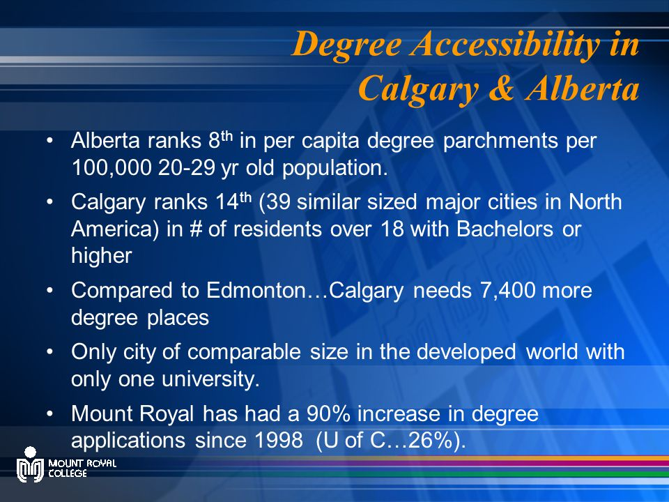 It is commonly agreed that we need access to more degrees, but why does MRC want to join AUCC.