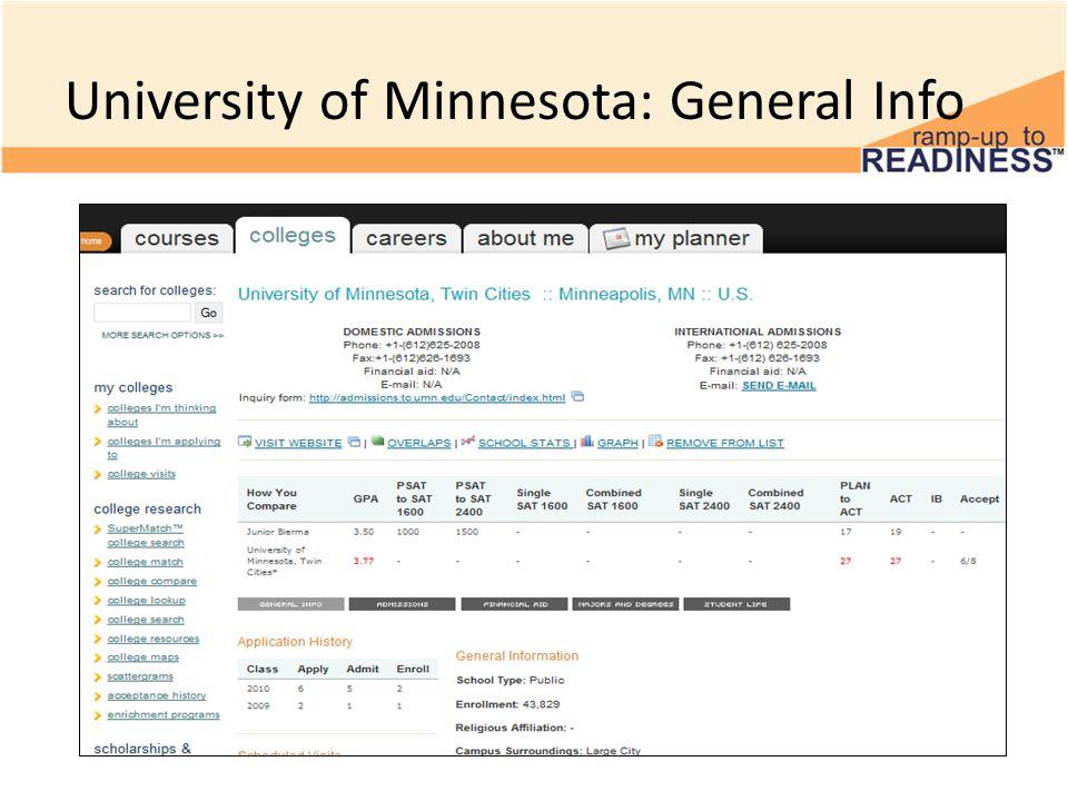 University of Minnesota: General Info
