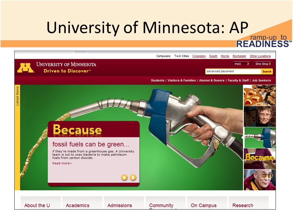 University of Minnesota: AP