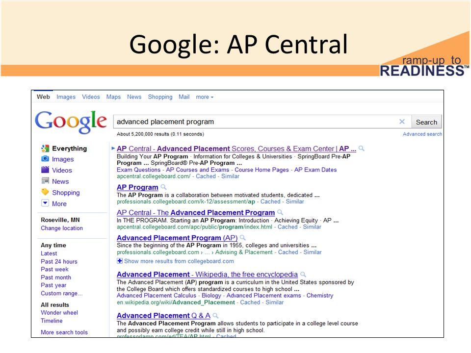 Google: AP Central