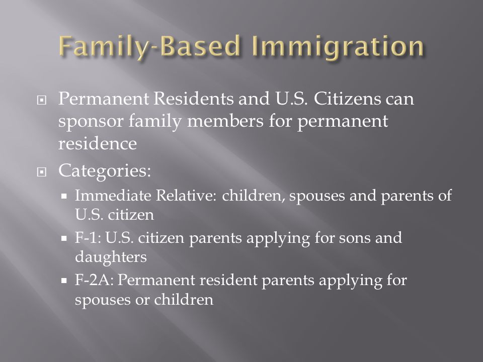  Permanent Residents and U.S.