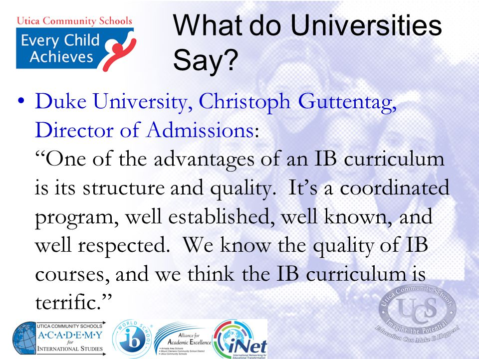 What do Universities Say.Harvard University, Marilyn McGrath Lewis, Asst.