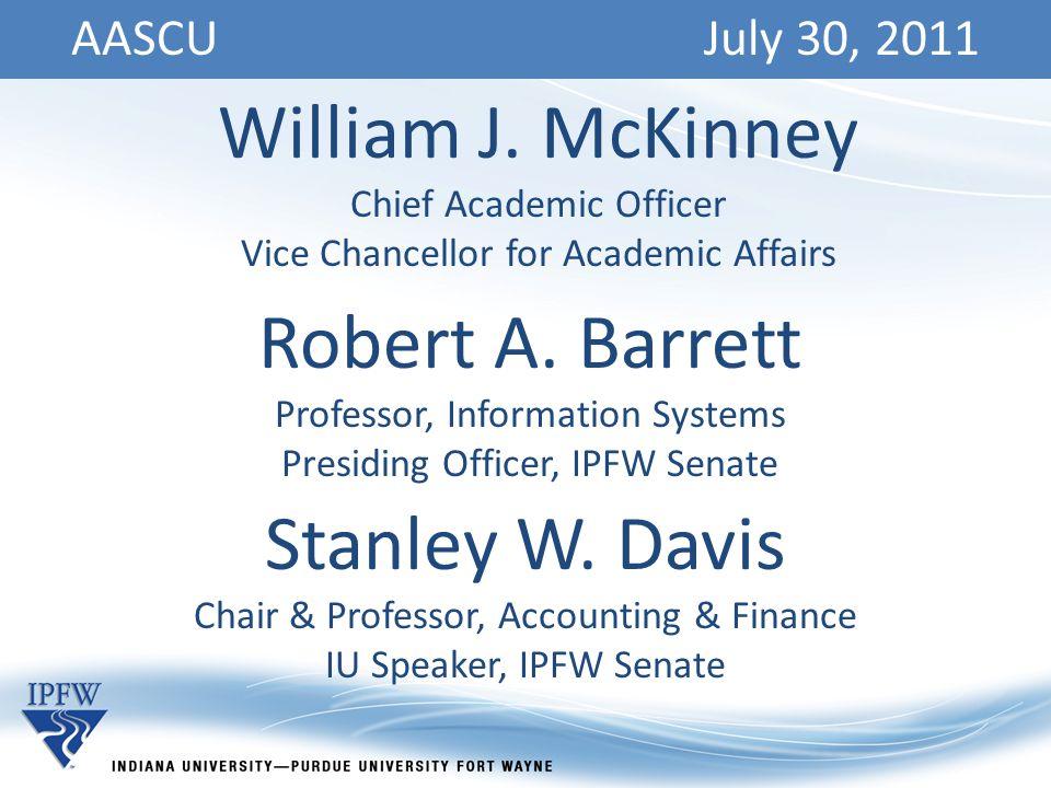 AASCU July 30, 2011 William J.