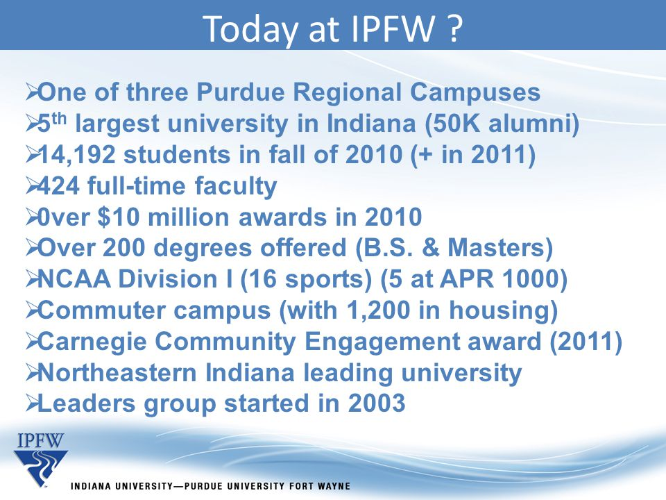 Today at IPFW .