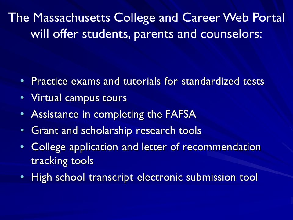 Practice exams and tutorials for standardized testsPractice exams and tutorials for standardized tests Virtual campus toursVirtual campus tours Assist