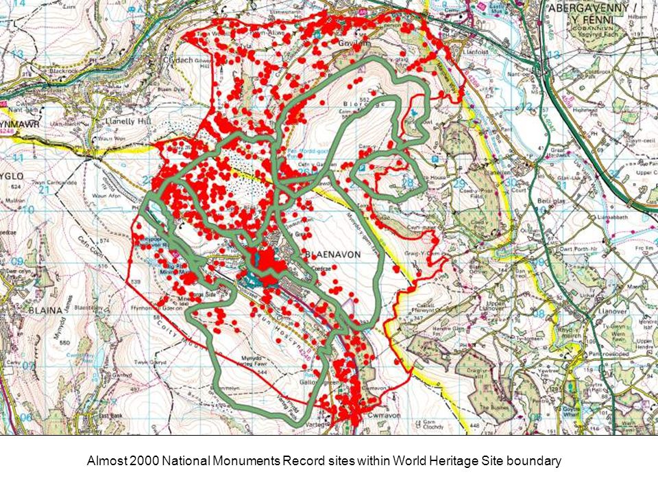 Almost 2000 National Monuments Record sites within World Heritage Site boundary