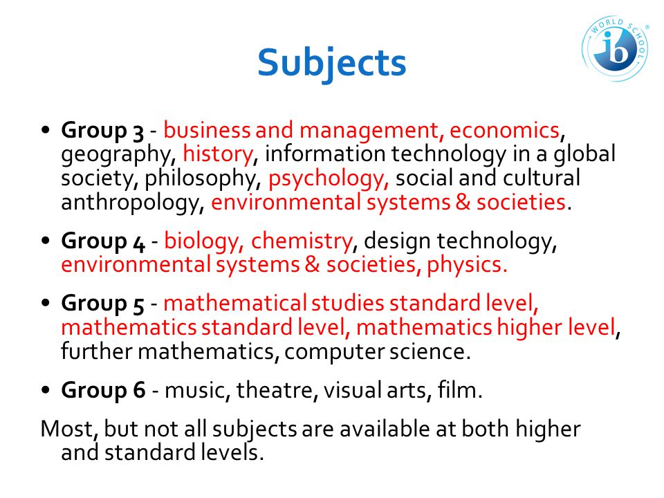 Extended Essay The students start in the end of DP1, deadline is around November in DP2.