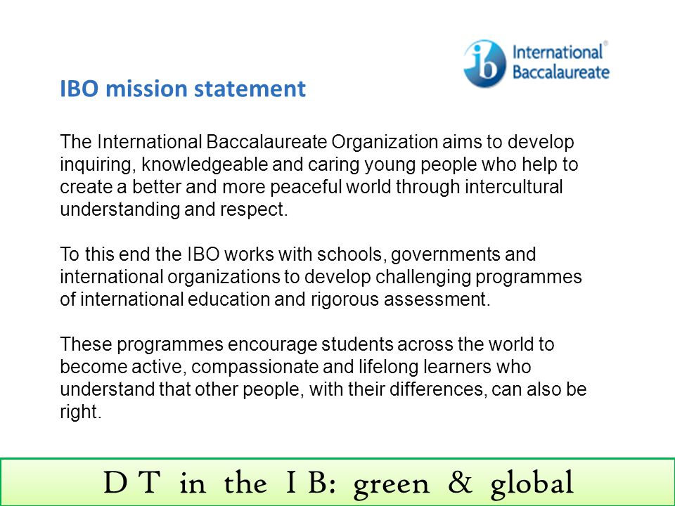 D T in the I B: green & global Topic 3.3: Strategies for green design Assessment statement ObjTeacher's notes 3.3.11Discuss the issues underpinning the economic recycling of materials.