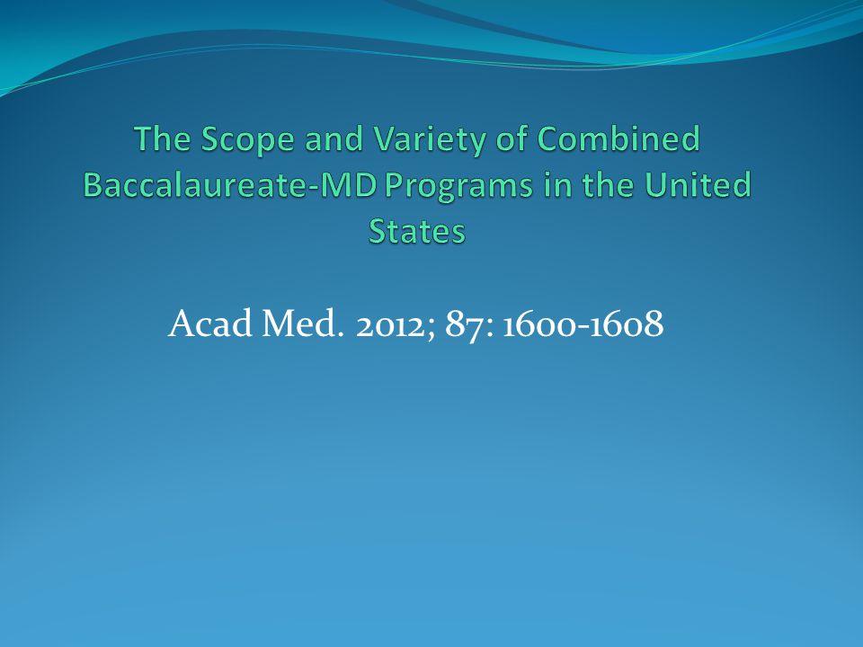 Acad Med. 2012; 87: 1600-1608