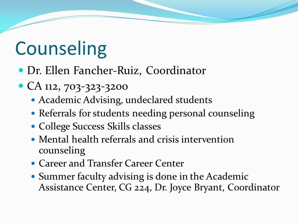 Counseling Dr.