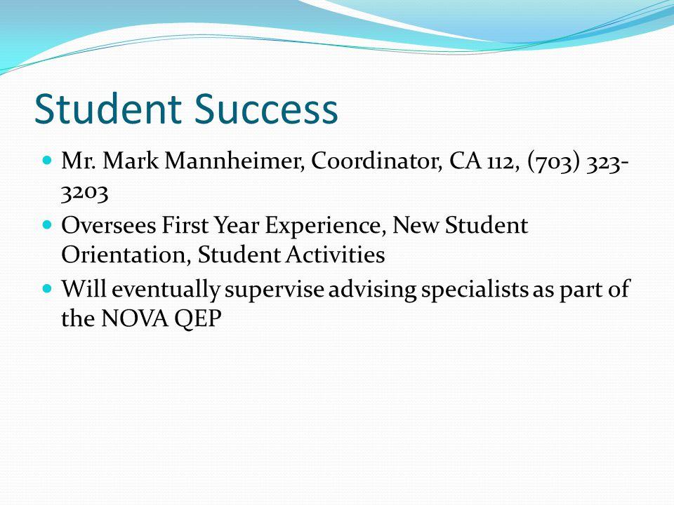 Student Success Mr.