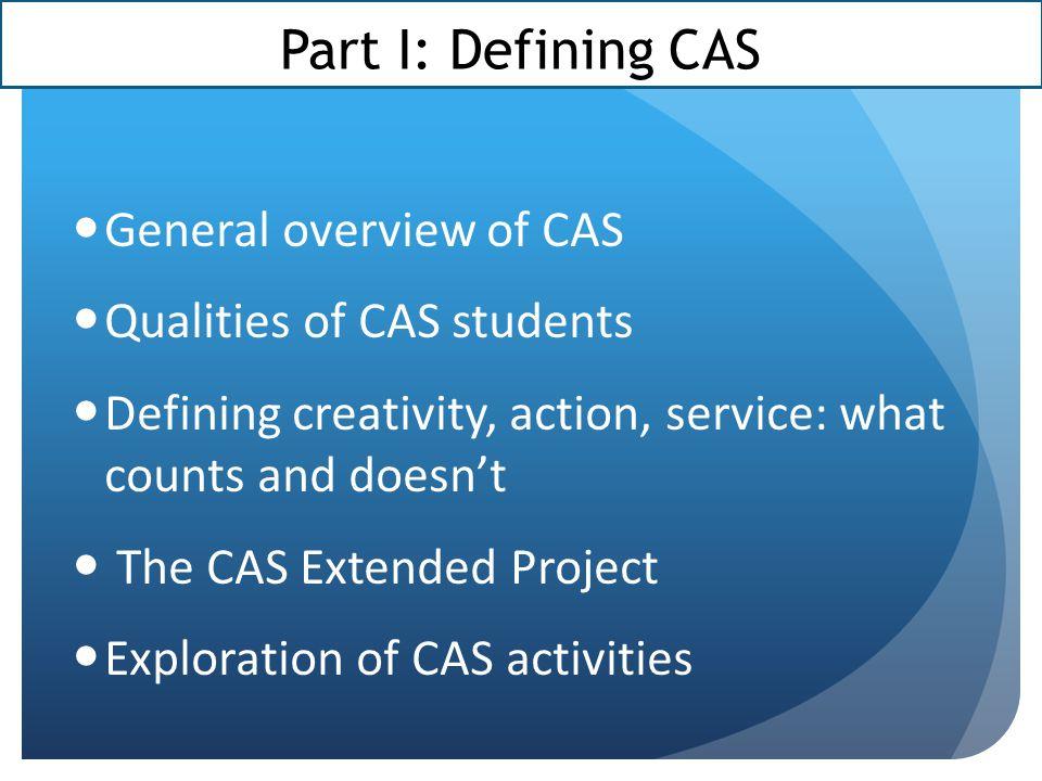 CAS Reflections Workshop
