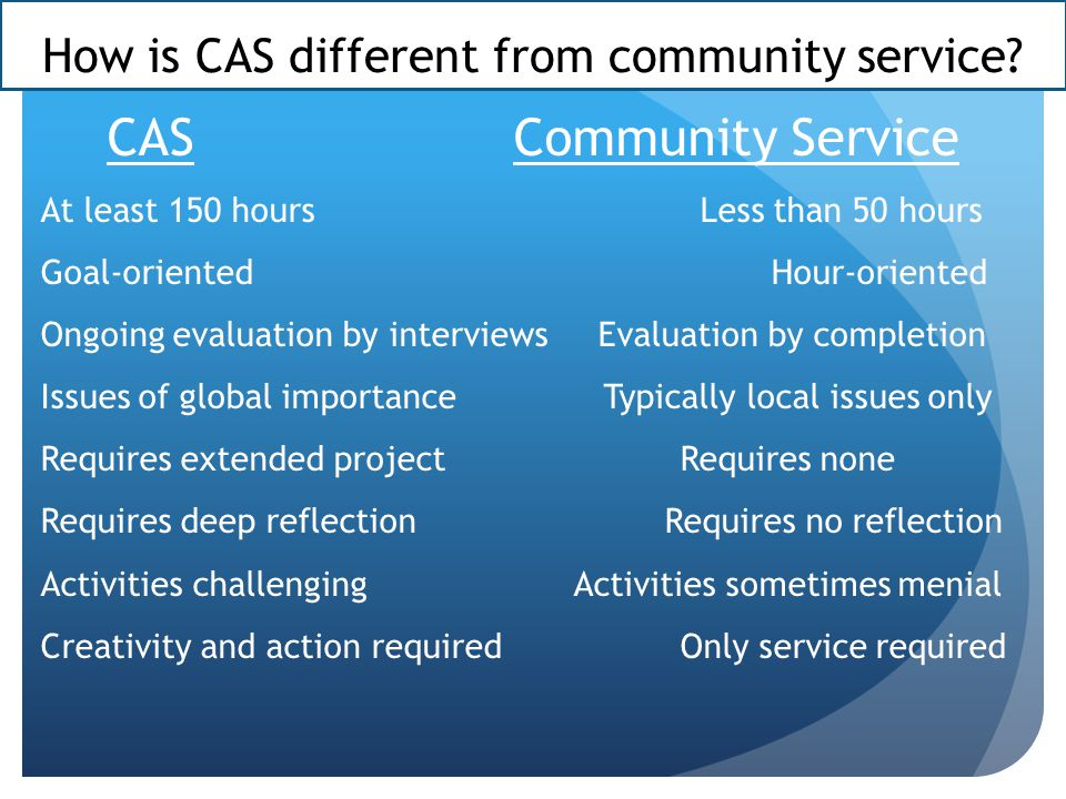 Who are CAS supervisors.