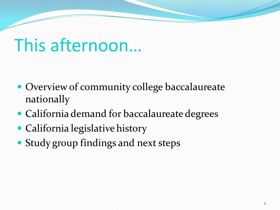 Community College Baccalaureate Association 3