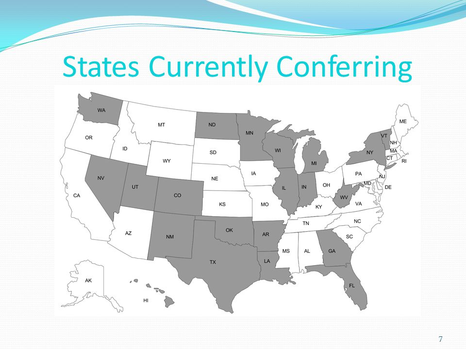 States Currently Conferring 7