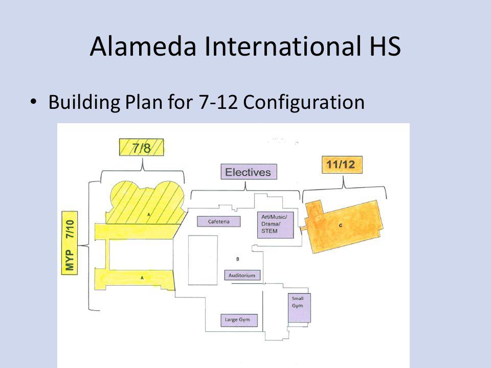Alameda International HS Building Plan for 7-12 Configuration