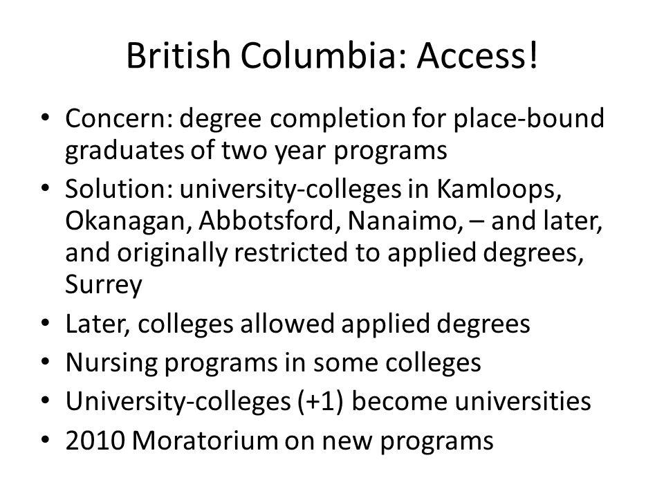 British Columbia: Access.