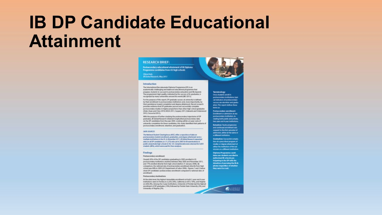 IB DP Candidate Educational Attainment