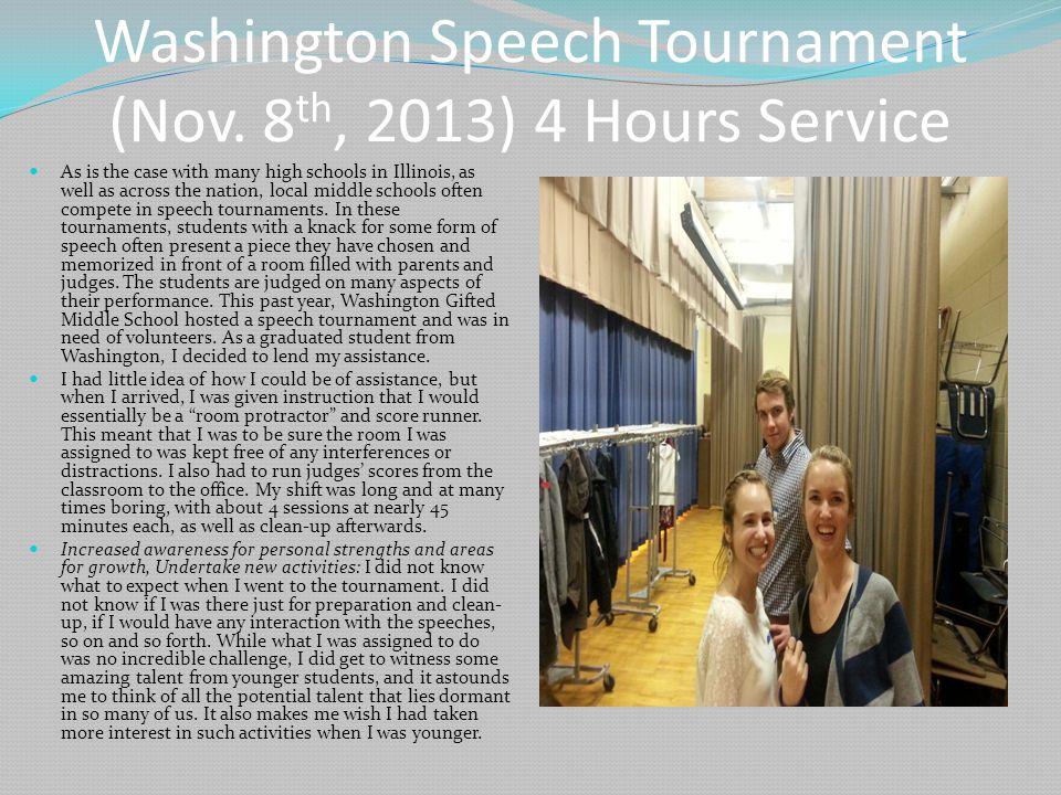 Washington Speech Tournament (Nov.