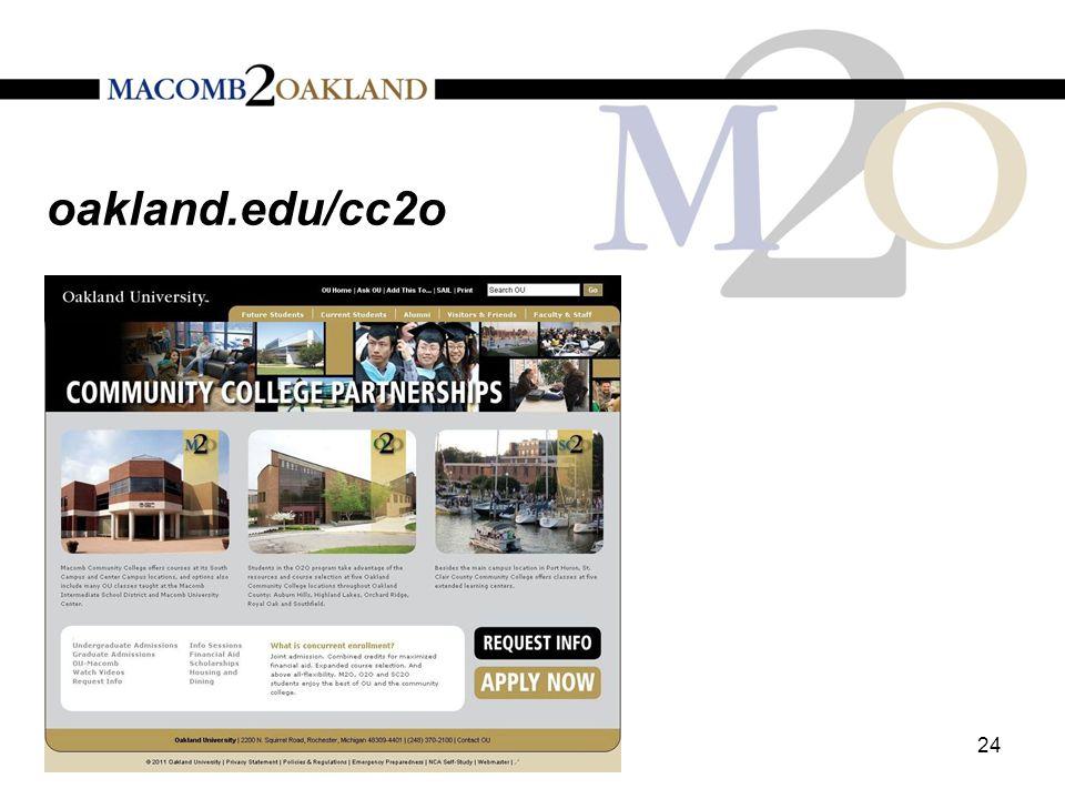 oakland.edu/cc2o 24