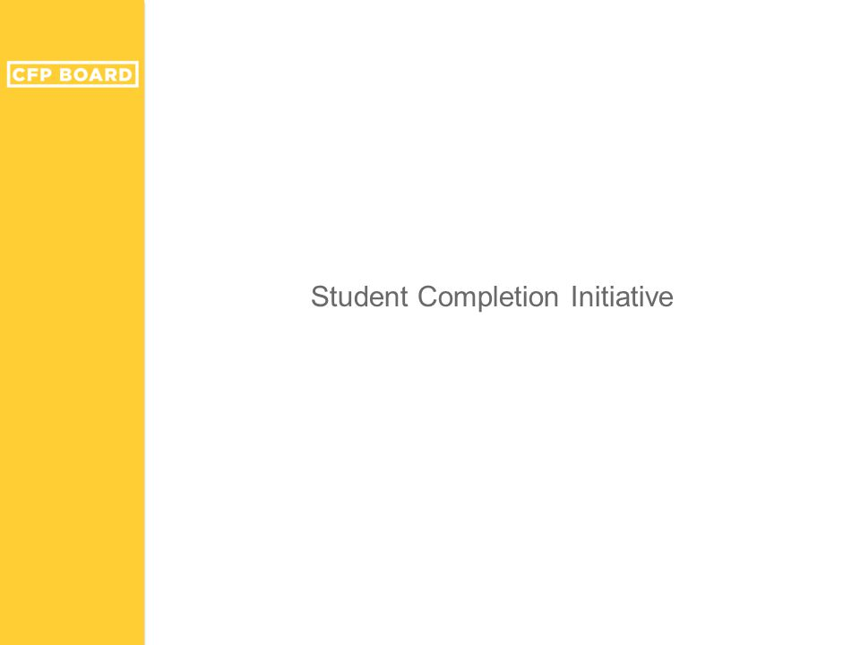 Student Completion Initiative