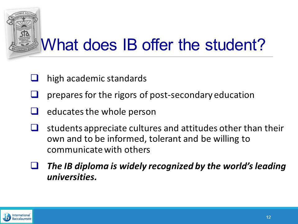 What does IB offer the student.