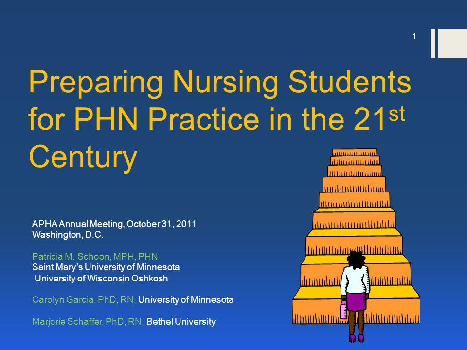 Preparing Nursing Students for PHN Practice in the 21 st Century APHA Annual Meeting, October 31, 2011 Washington, D.C.
