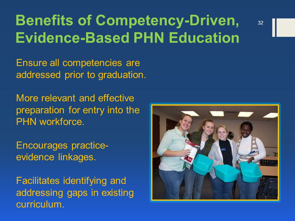 Ensure all competencies are addressed prior to graduation.