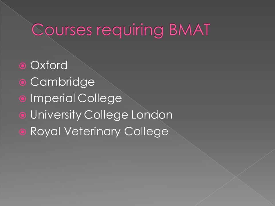  Oxford  Cambridge  Imperial College  University College London  Royal Veterinary College